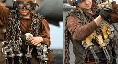 Carrier Ops: US Navy Brown Shirt Sailors – Chocks & Chains