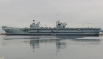 British aircraft carrier to be commissioned