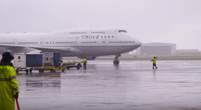 Watch: United Airlines 747 Farewell Final Flight