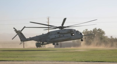 Window falls out of Marine Corps CH-53 helicopter over Okinawa, lands in school field