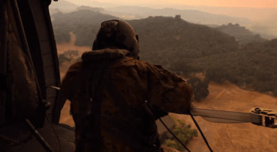 Watch: California Army National Guard's B Company 140th Aviation Regiment fly over the Thomas Fire
