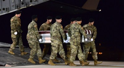 The US soldier ambushed in Niger was killed by enemy fire as he fled the attack