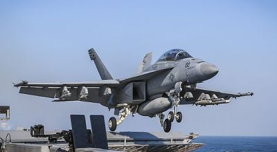 Picture of the Day: F/A-18F Super Hornet of the Fighting Redcocks (VFA 22) Launches from the USS Theodore Roosevelt