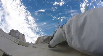 Watch: Astronaut's GoPro shows the moment he exits the ISS and enters space