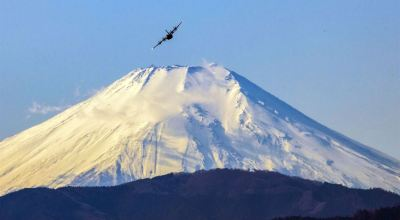 Picture of the Day: C-130J Super Hercules Flies Near Mount Fuji