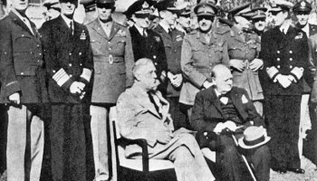Roosevelt and Churchill Meet for the Casablanca Conference