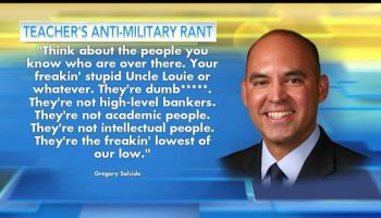 California Teacher and City Councilman Slams Military Service Members