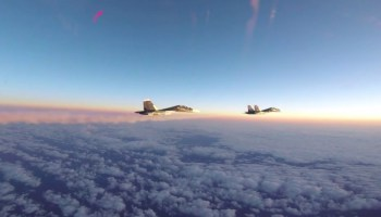 Watch: US and RAF Fighters intercept Russian SU-30s over the Baltics