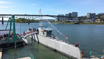 The Navy just took delivery of America's sub-hunting ghost ship: The largest unmanned vessel in the world
