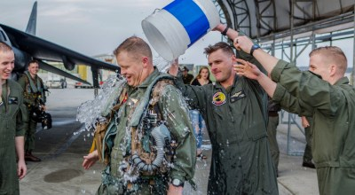 Picture of the Day: Final Flight Tradition! Col. John A. Rahe Retires from the United State Marine Corps