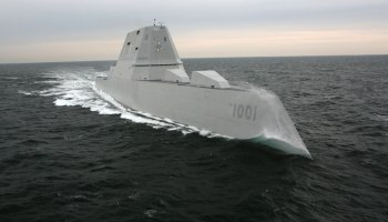 Navy accepts delivery of its newest stealth destroyer -- named for a SEAL that gave his life to save his teammates