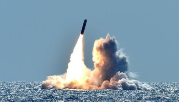 US Navy sub test fires 2 massive nuclear capable missiles off the coast of Southern California
