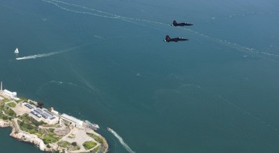 Picture of the Day: T-38s from Beale Air Force Base Fly Over Alcatraz in San Francisco
