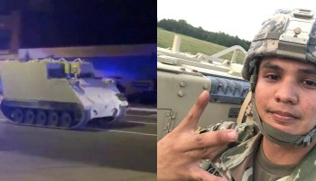 National Guard Soldier claims he was ordered to steal armored personnel carrier
