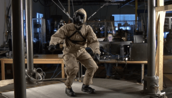 How do you test suits designed to protect people from biological or chemical weapons? Robots