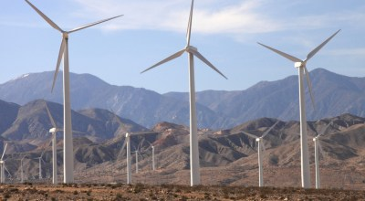 Windmills near Palm Springs, CA, courtesy of Flickr