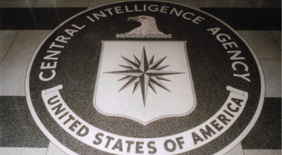 CIA seal on the floor of the CIA headquarters (Wikimedia Commons).