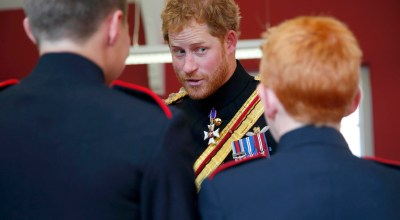 Prince Harry visits to The Duke of York's Royal Military School. (Dover, England, UK) (AP).