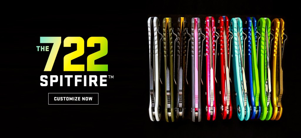 Buck Knives Adds 722 SpitFire to Custom Knife Shop