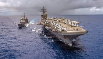 US carrier strike group joins Japanese and Canadian vessels for massive Pacific war games