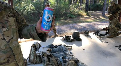 A Soldier with a can of Bang at Camp Beauregard/ Photo by Joseph Lafave for NEWSREP