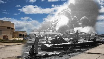 Remembering Pearl Harbor with touching images that mix the modern with the 'day that will live in infamy'
