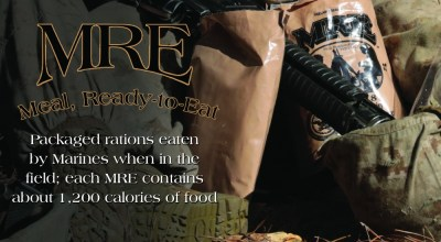 Soldiers & Marines all have an opinion about MREs