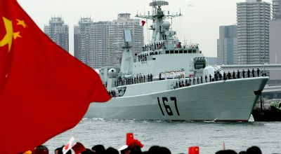 The Chinese naval missile destroyer Shenzhen arrives at Harumi pier November 28, 2007 in Tokyo, Japan.  (Photo by Koichi Kamoshida/Getty Images)