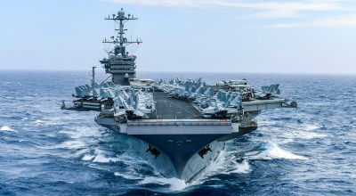 The Nimitz-class aircraft carrier USS Harry S. Truman (CVN 75) transits the sea. Harry S. Truman will continue to foster cooperation with regional allies and partners, strengthen regional stability, and remain vigilant, agile and dynamic.  (U.S. Navy photo by Mass Communication Specialist 2nd Class Scott Swofford)