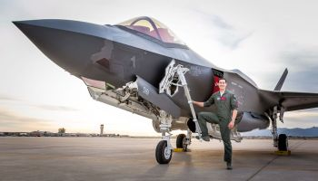 F-35 pilot Justin 'Hasard' Lee interviews retired Top Gun instructor Vincent 'Jell-O' Aiello