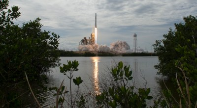 The SpaceX Falcon 9 rocket, with the Dragon spacecraft onboard, launches from pad 39A at NASA's Kennedy Space Center on June 3, 2017 in Cape Canaveral, Florida. (Getty Images)