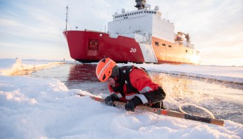 The Pic of the Day: Ice rescue training in the Arctic Ocean