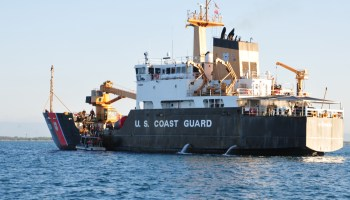 US Coast Guard cutter slams into dock during Mardi Gras in New Orleans