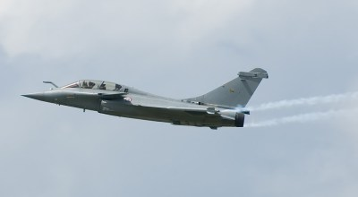 Civilian passenger unexpectedly ejects from French Rafale B fighter during takeoff