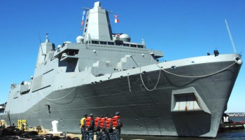 Female Marine discovers hidden camera in women's bathroom aboard the USS Arlington
