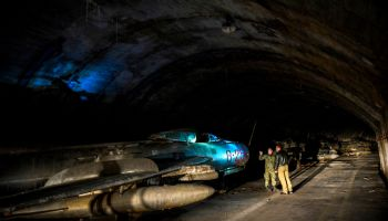 Albanian Air Force fighters hidden in mountain cave for decades are still there...and up for sale