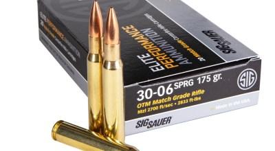 SIG SAUER Introduces 30-06 Springfield Elite Match Ammunition