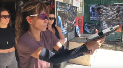 Watch: Halle Berry and Keanu Reeves used live rounds to train for John Wick 3