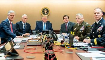 The Pic of the Day: President Trump watching a live feed of the Delta Force raid