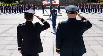Gen. Mark Milley and his Japanese counterpart, Gen. Koji Yamazaki, in Tokyo (source: jcs.mil)