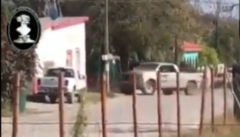 Footage records intensity of shootout between cartel and Mexican security near Texas border
