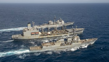 The Pic of the Day: Replenishment at sea can be beautiful