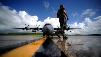 Air Force Hurricane Hunters getting after it
