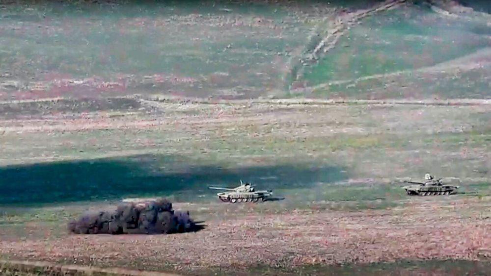 Armenian and Azerbaijani Forces Clash
