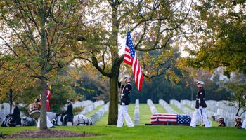 The Pic of the Day: Funeral Colors for a WWII Marine