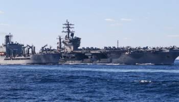 Navy Vaccinating Eisenhower Carrier Strike Group Before Deployment