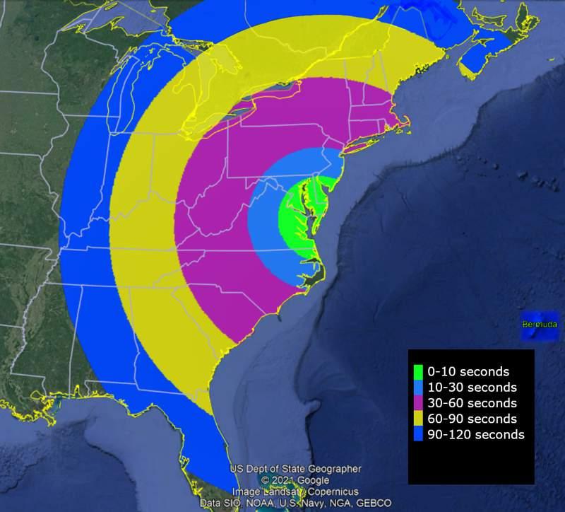NASA visibility map