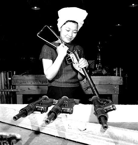 Sten gun manufacturing during WWII.