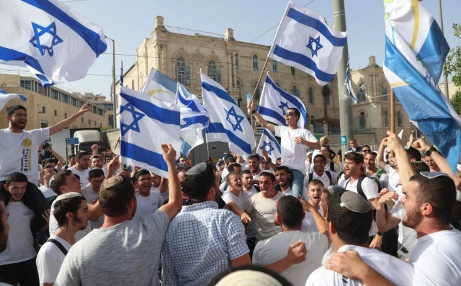 Israeli nationalist marchers gather in East Jerusalem