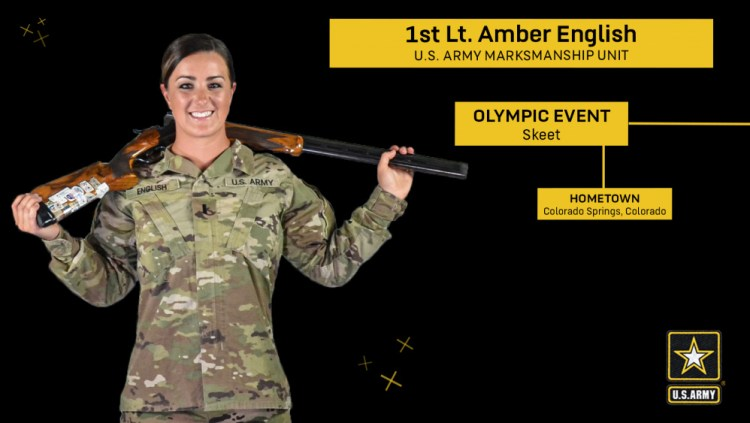 US Army's Amber English Brings Home the Gold in Skeet Shooting